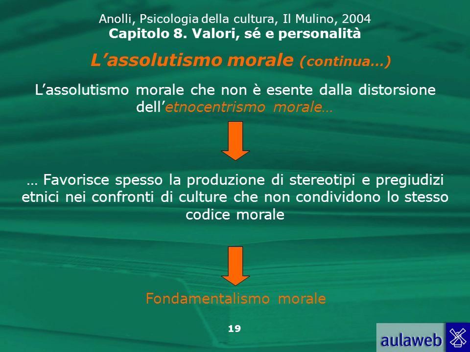 19 Anolli, Psicologia della cultura, Il Mulino, 2004 Capitolo 8.