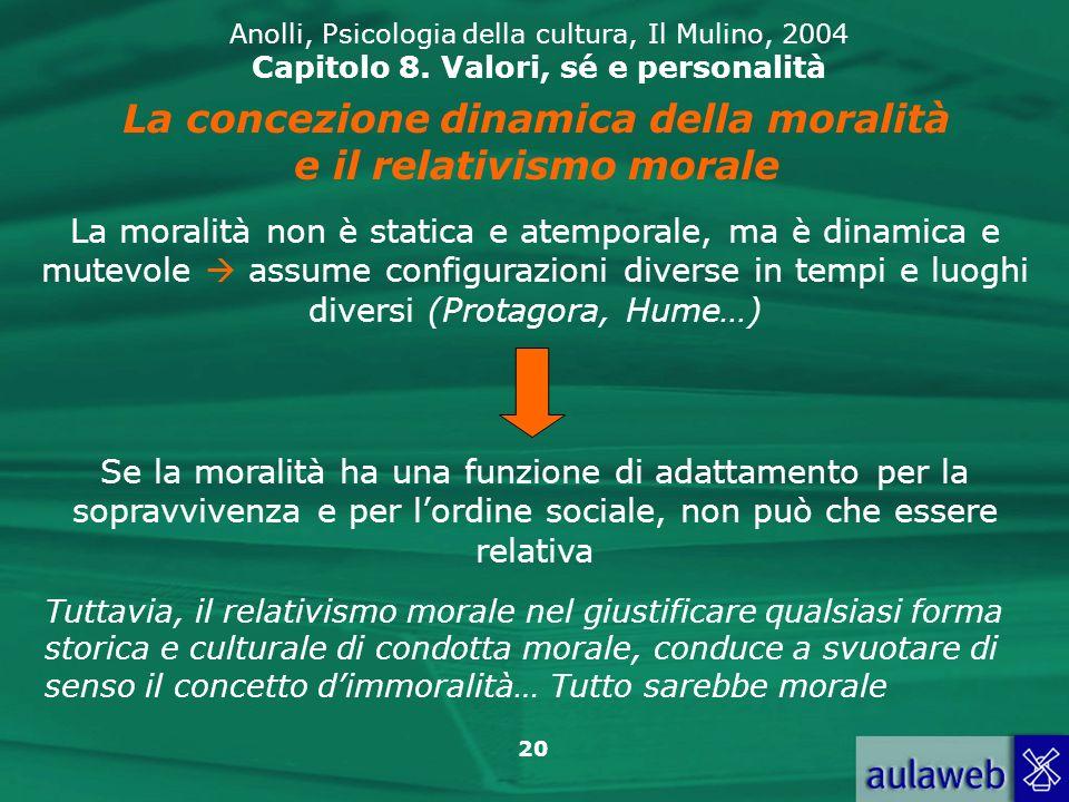 20 Anolli, Psicologia della cultura, Il Mulino, 2004 Capitolo 8.