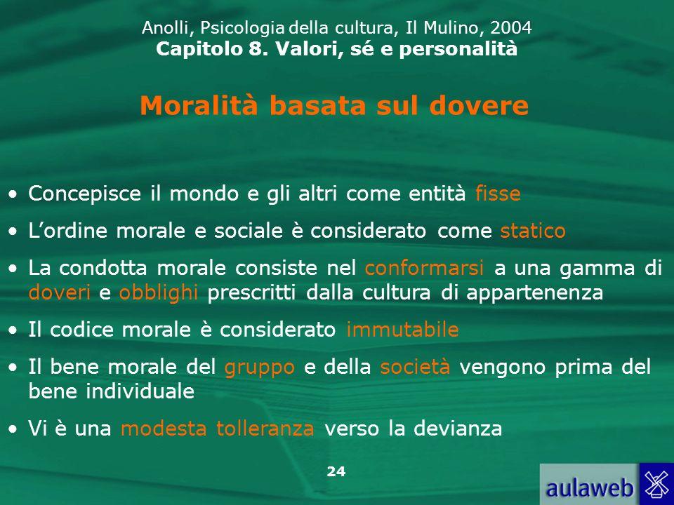 24 Anolli, Psicologia della cultura, Il Mulino, 2004 Capitolo 8.