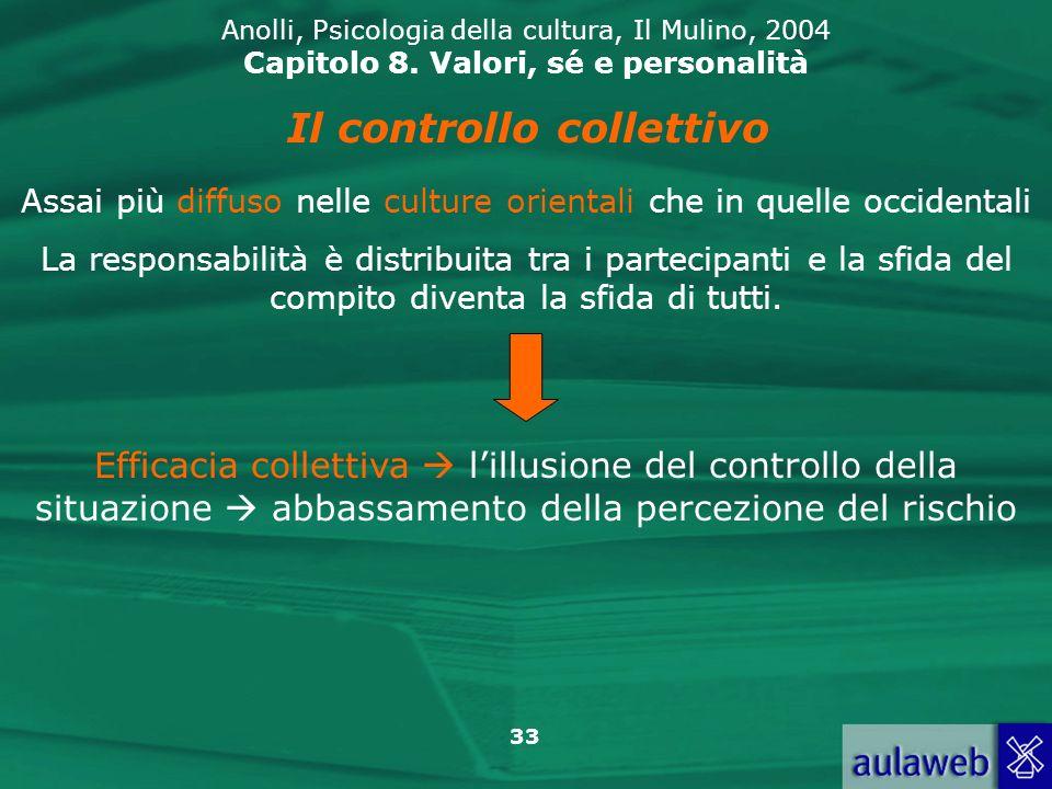 33 Anolli, Psicologia della cultura, Il Mulino, 2004 Capitolo 8.