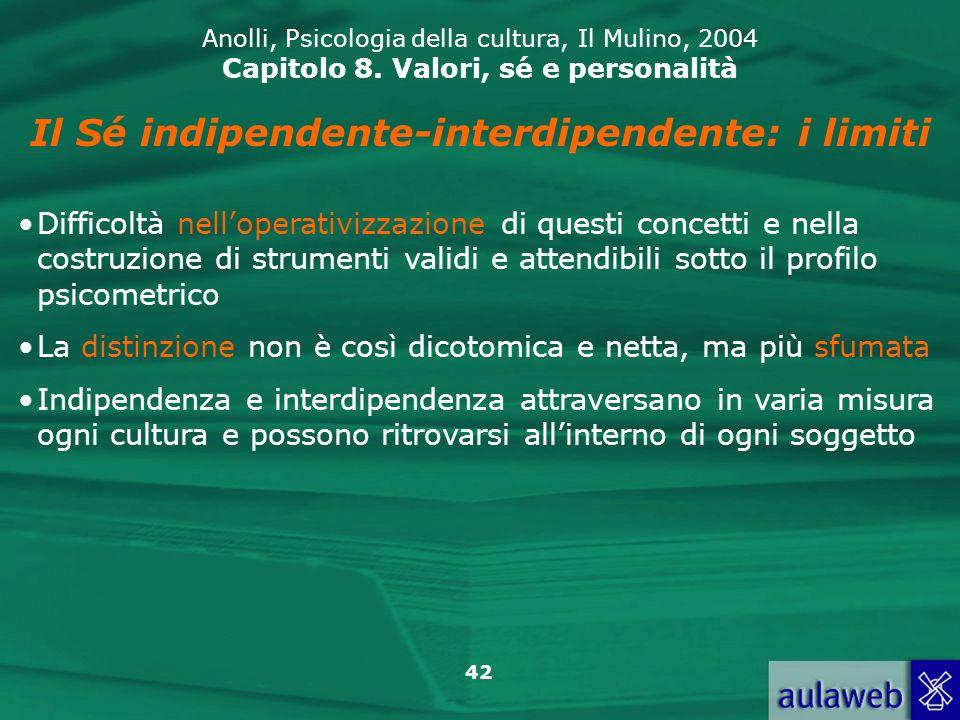 42 Anolli, Psicologia della cultura, Il Mulino, 2004 Capitolo 8.