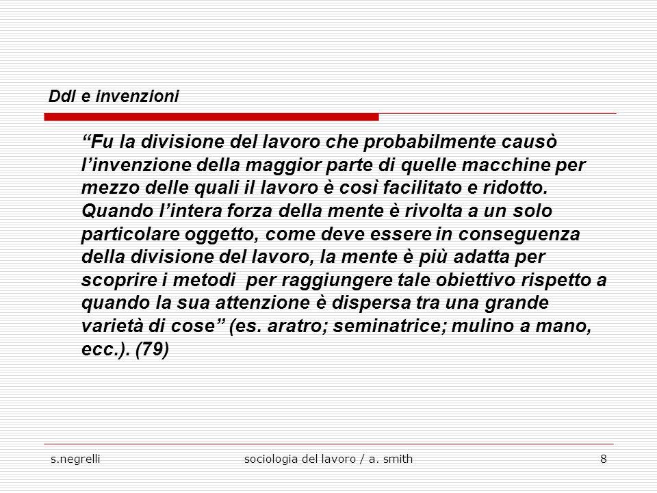 s.negrellisociologia del lavoro / a.