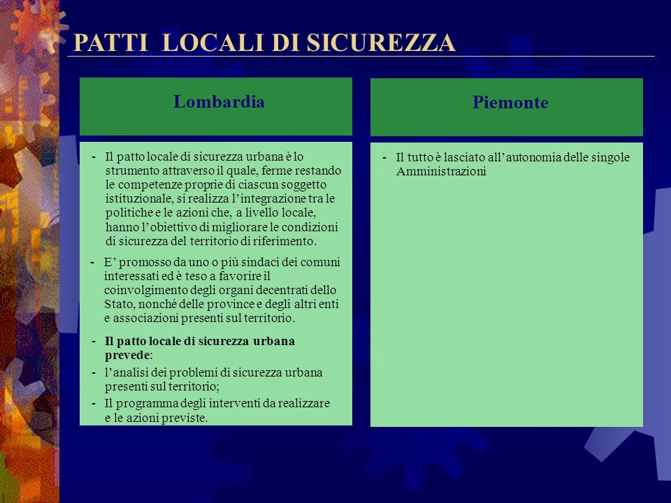 GESTIONE ASSOCIATA Veneto La Regione incentiva lo svolgimento in forma associata del servizio di polizia locale attraverso il finanziamento di progett