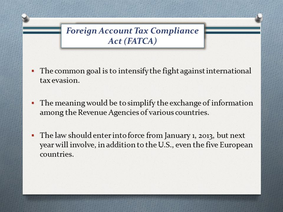The common goal is to intensify the fight against international tax evasion.