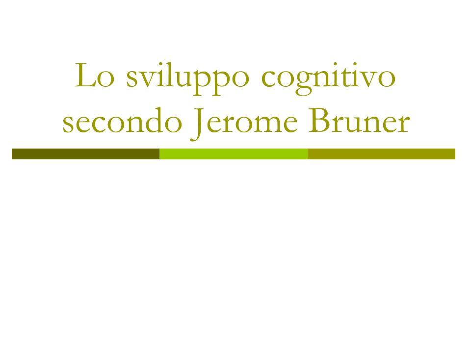Jerome Bruner (1915 – vivente) Nasce a New York da famiglia di ebrei tedeschi.