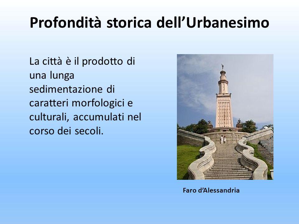 La città è il prodotto di una lunga sedimentazione di caratteri morfologici e culturali, accumulati nel corso dei secoli. Faro dAlessandria Profondità