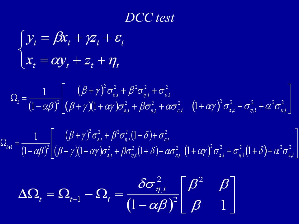 DCC test