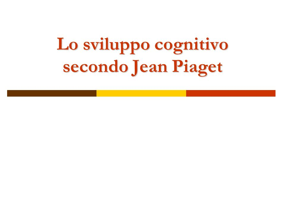 Jean Piaget (1896-1980) Piaget si interessa in primis di biologia (studi sullevoluzione animale) Successivamente sviluppa linteresse per lEPISTEMOLOGIA ( origini della conoscenza).