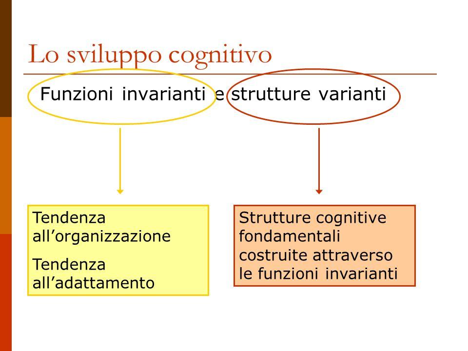 Funzioni invarianti e strutture varianti Lo sviluppo cognitivo Tendenza allorganizzazione Tendenza alladattamento Strutture cognitive fondamentali cos