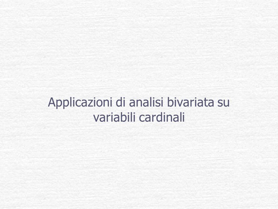 Applicazioni di analisi bivariata su variabili cardinali