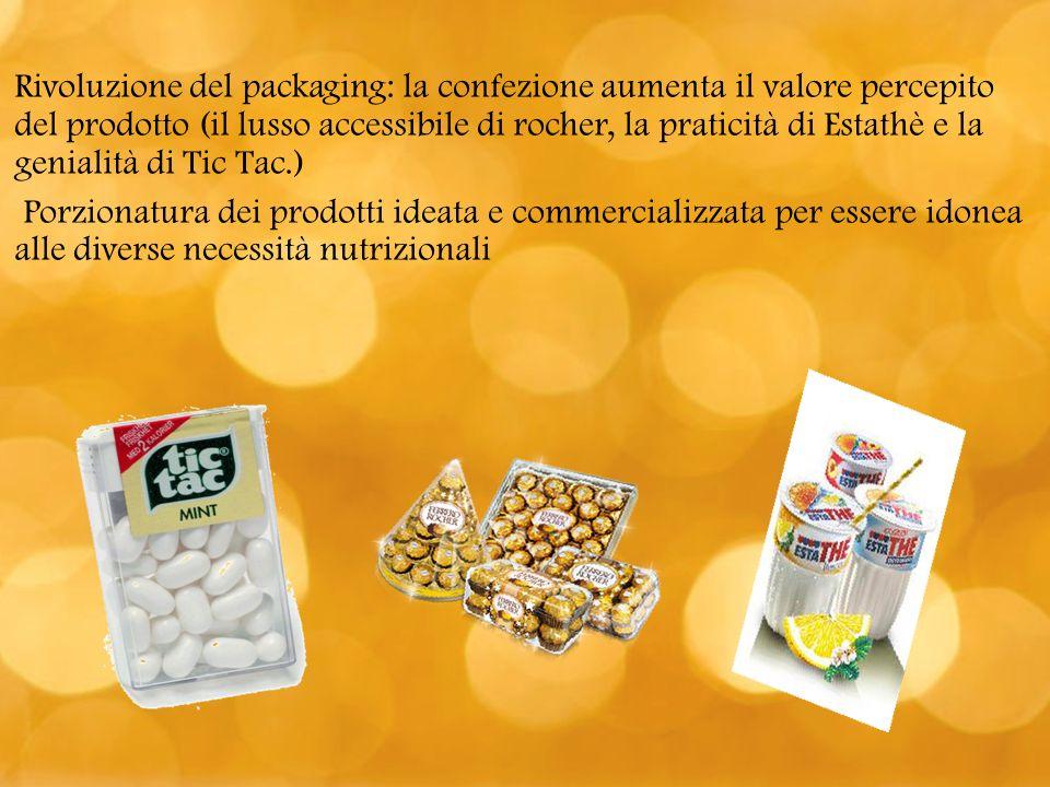 Rivoluzione del packaging: la confezione aumenta il valore percepito del prodotto (il lusso accessibile di rocher, la praticità di Estathè e la genial