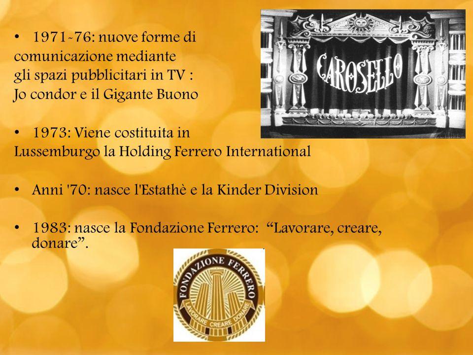 Anni 90-2000: nascono le merende fresche, il Raffaello, il Gran Soleil, il Ferrero Garden e il Rendnoir 1997: Terza Generazione Ferrero.