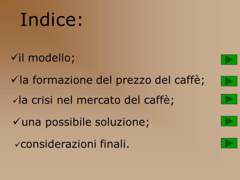 Indice: il modello; la formazione del prezzo del caffè; la crisi nel mercato del caffè; una possibile soluzione; considerazioni finali.