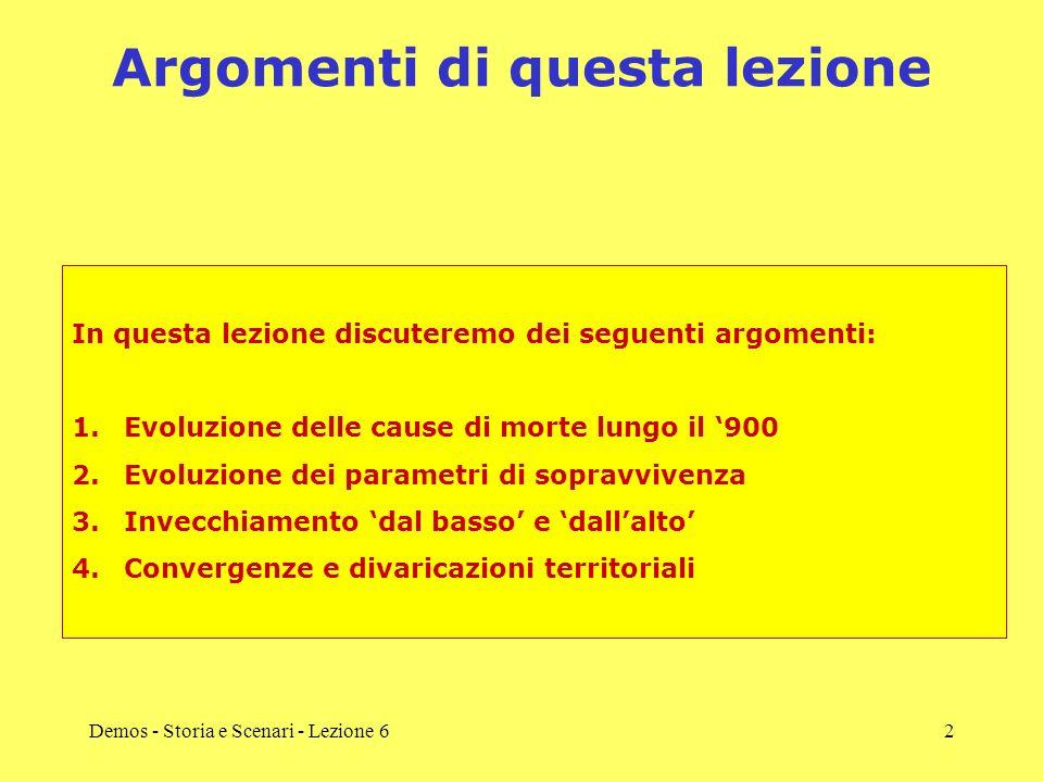 Demos - Storia e Scenari - Lezione 62 Argomenti di questa lezione In questa lezione discuteremo dei seguenti argomenti: 1.Evoluzione delle cause di mo