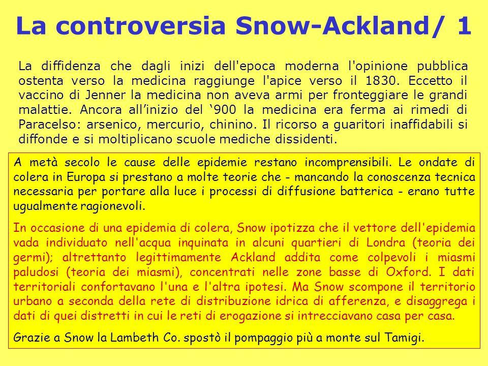 Demos - Storia e Scenari - 410 La controversia Snow-Ackland/ 1 La diffidenza che dagli inizi dell'epoca moderna l'opinione pubblica ostenta verso la m