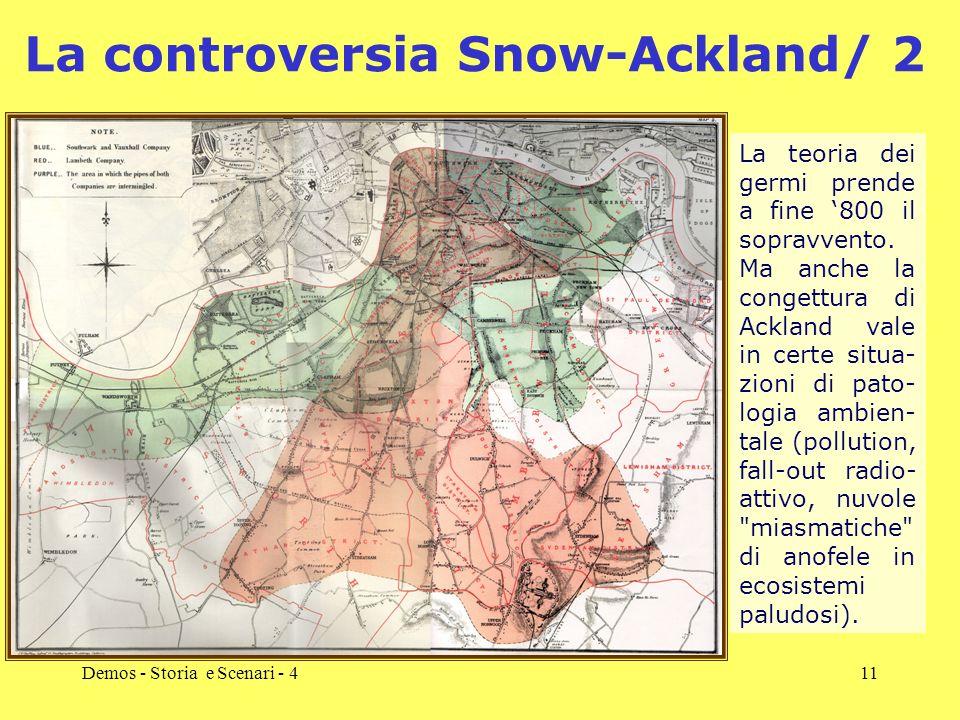 Demos - Storia e Scenari - 411 La controversia Snow-Ackland/ 2 La teoria dei germi prende a fine 800 il sopravvento. Ma anche la congettura di Ackland