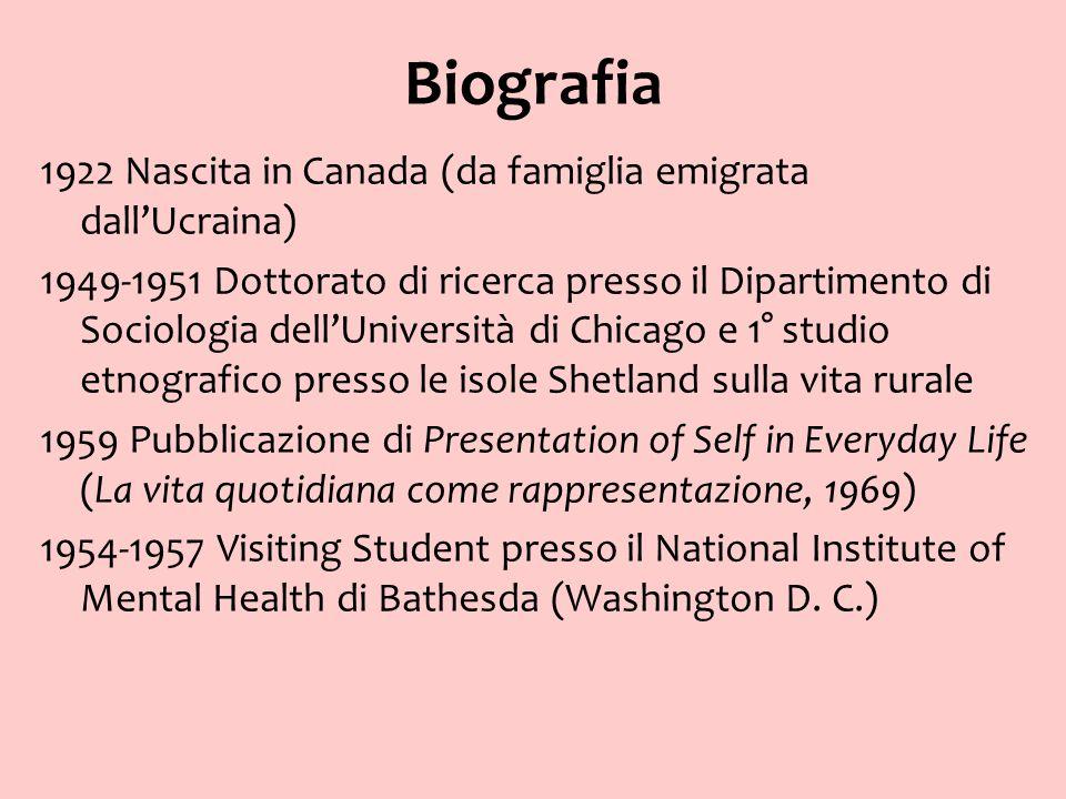 Biografia 1922 Nascita in Canada (da famiglia emigrata dallUcraina) 1949-1951 Dottorato di ricerca presso il Dipartimento di Sociologia dellUniversità