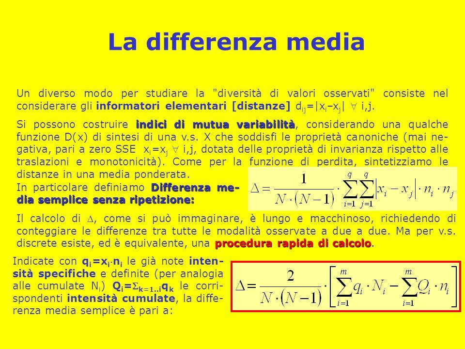 La differenza media Un diverso modo per studiare la
