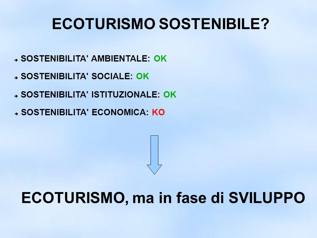 ECOTURISMO SOSTENIBILE.