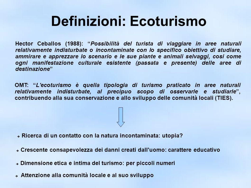 Ecoturismo, che confusione.Turismo vs. sostenibilità Ambiente/conservazione vs.