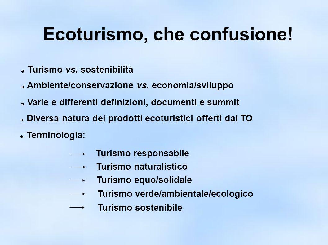 Ecoturismo e Sostenibilità In che modo l ecoturismo può essere concretamente sostenibile.