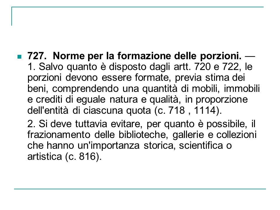 Deroghe al principio di divisione in natura: a) la vendita dei beni per il pagamento di debiti e pesi ereditari.
