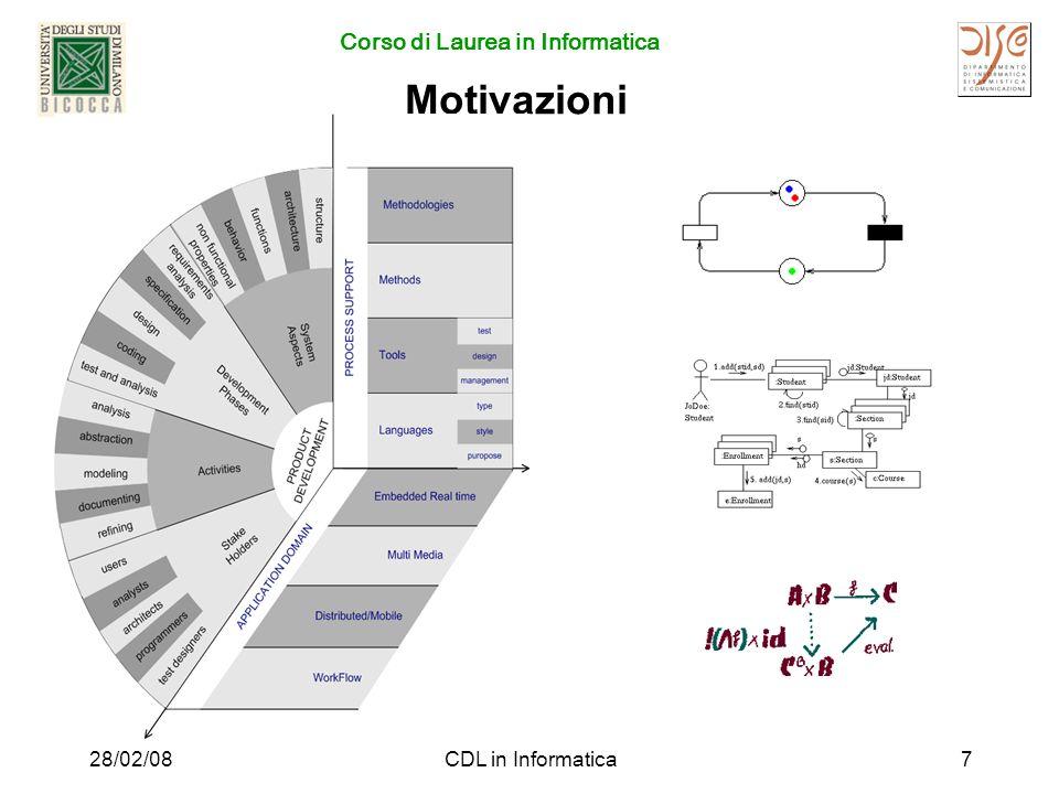 Corso di Laurea in Informatica 28/02/08CDL in Informatica7 Motivazioni