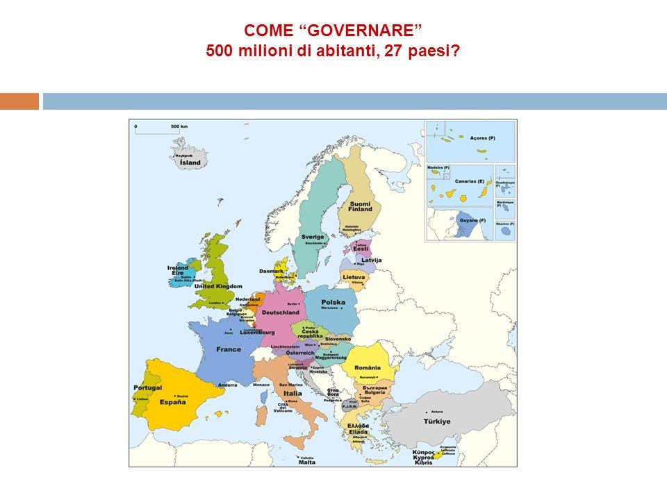 COME GOVERNARE 500 milioni di abitanti, 27 paesi?