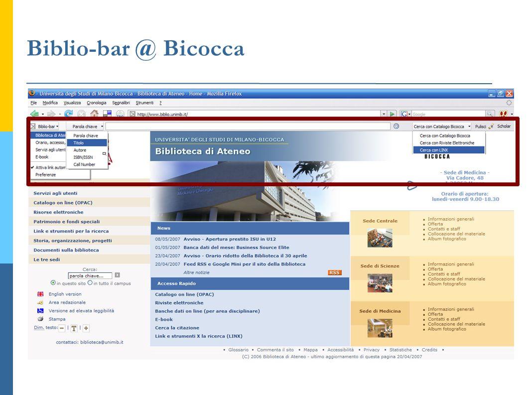 Biblio-bar @ Bicocca