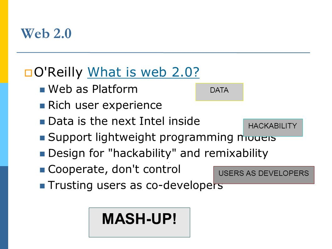 Web 2.0 O Reilly What is web 2.0 What is web 2.0.