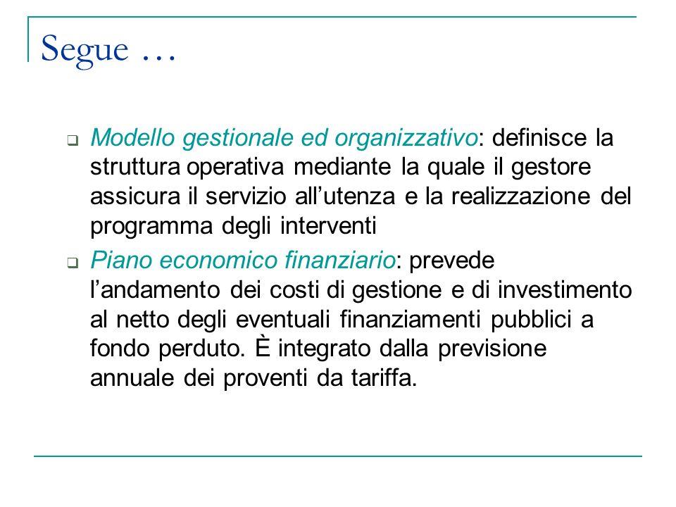 Organizzazione del servizio idrico integrato: la titolarità del servizio 2.
