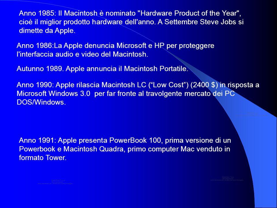 Anno 1985: Il Macintosh è nominato