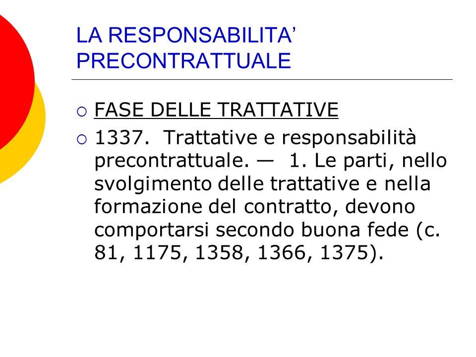 IPOTESI SPECIFICA 1338.Conoscenza delle cause d invalidità.