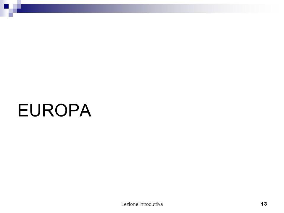 Lezione Introduttiva 13 EUROPA
