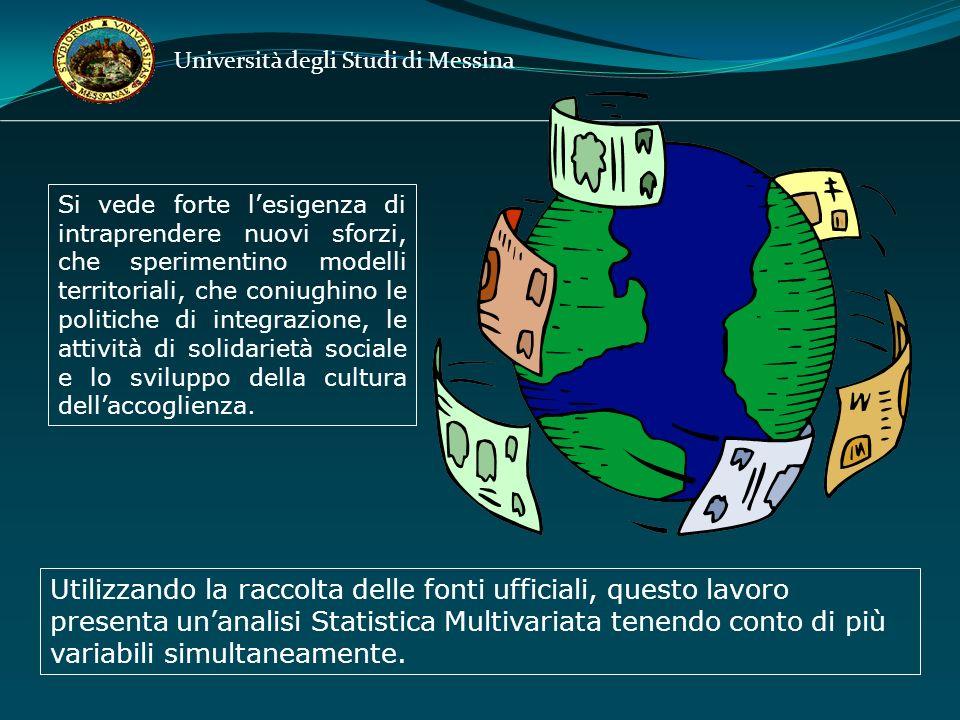 Università degli Studi di Messina Si vede forte lesigenza di intraprendere nuovi sforzi, che sperimentino modelli territoriali, che coniughino le politiche di integrazione, le attività di solidarietà sociale e lo sviluppo della cultura dellaccoglienza.