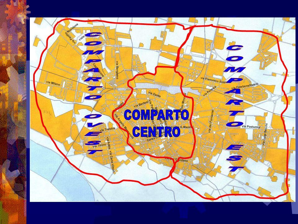 Nel mese di Aprile 2001, un anno dopo, il Comandante ha esteso questa esperienza a tutta la città affiancando al Comparto Est il Comparto Ovest il Comparto Centro La scelta circa la perimetrazione territoriale dei tre Comparti predilige un criterio squisitamente urbanistico-geografico, due comparti occupano gli anelli semiperiferici della città ed insieme racchiudono il Comparto Centro.