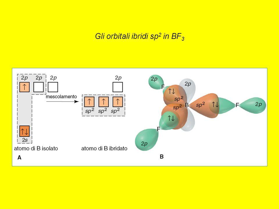 Gli orbitali ibridi sp 2 in BF 3