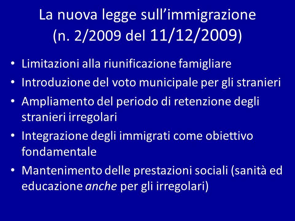 La nuova legge sullimmigrazione (n.