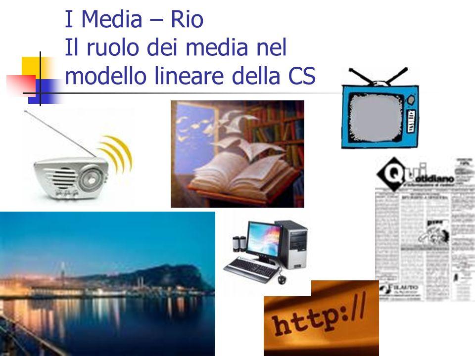 I Media – Rio Il ruolo dei media nel modello lineare della CS