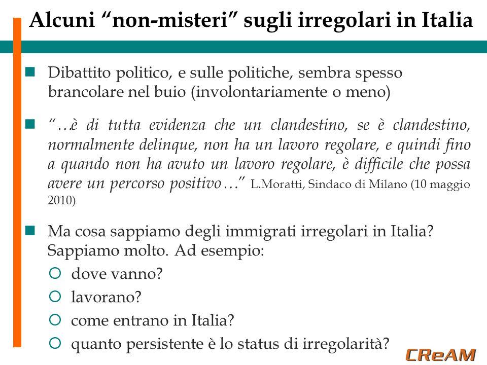 Alcuni non-misteri sugli irregolari in Italia Dibattito politico, e sulle politiche, sembra spesso brancolare nel buio (involontariamente o meno) …è d
