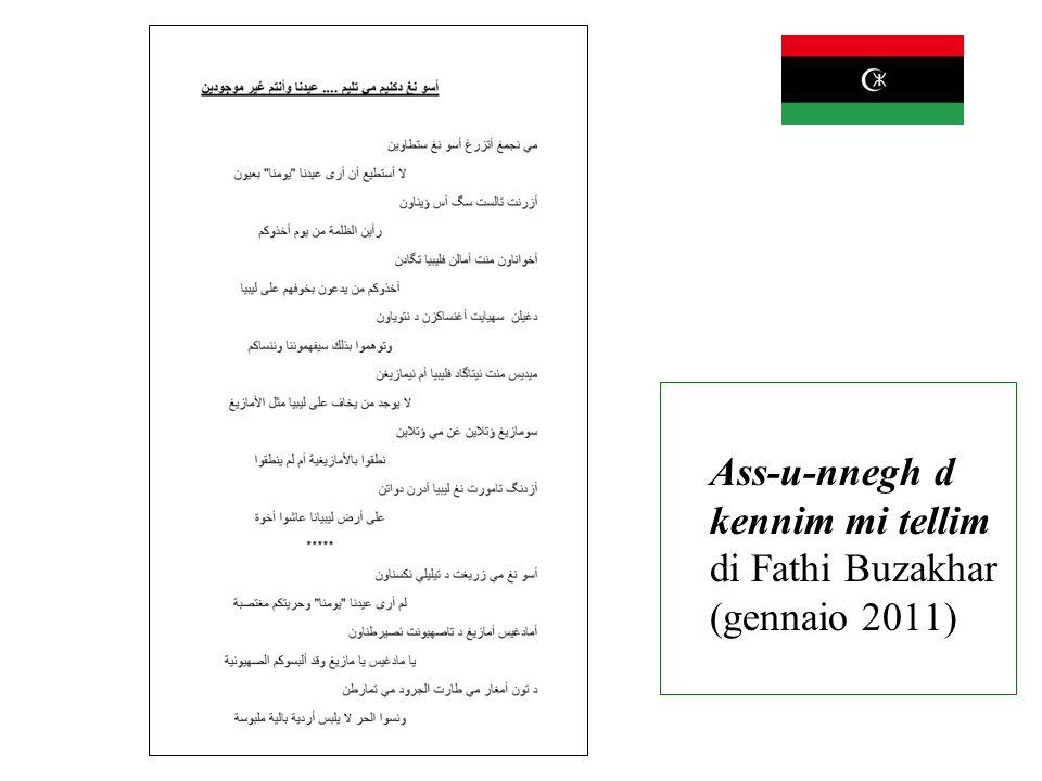 Ass-u-nnegh d kennim mi tellim di Fathi Buzakhar (gennaio 2011)