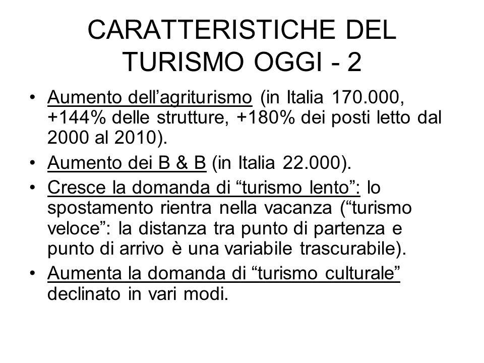 LE SPECIFICITA DELLOFFERTA TURISTICA ITALIANA DI INDISCUTIBILE VALORE MA ….