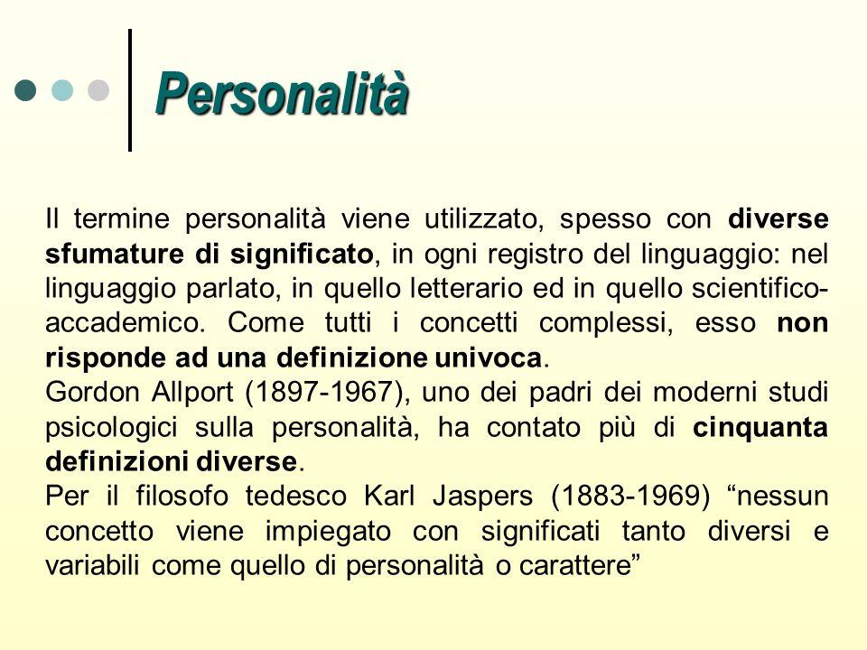Il termine personalità viene utilizzato, spesso con diverse sfumature di significato, in ogni registro del linguaggio: nel linguaggio parlato, in quel