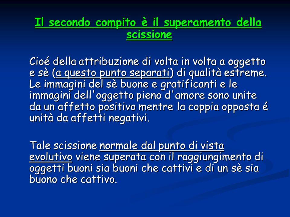 Il secondo compito è il superamento della scissione Il secondo compito è il superamento della scissione Cioé della attribuzione di volta in volta a og