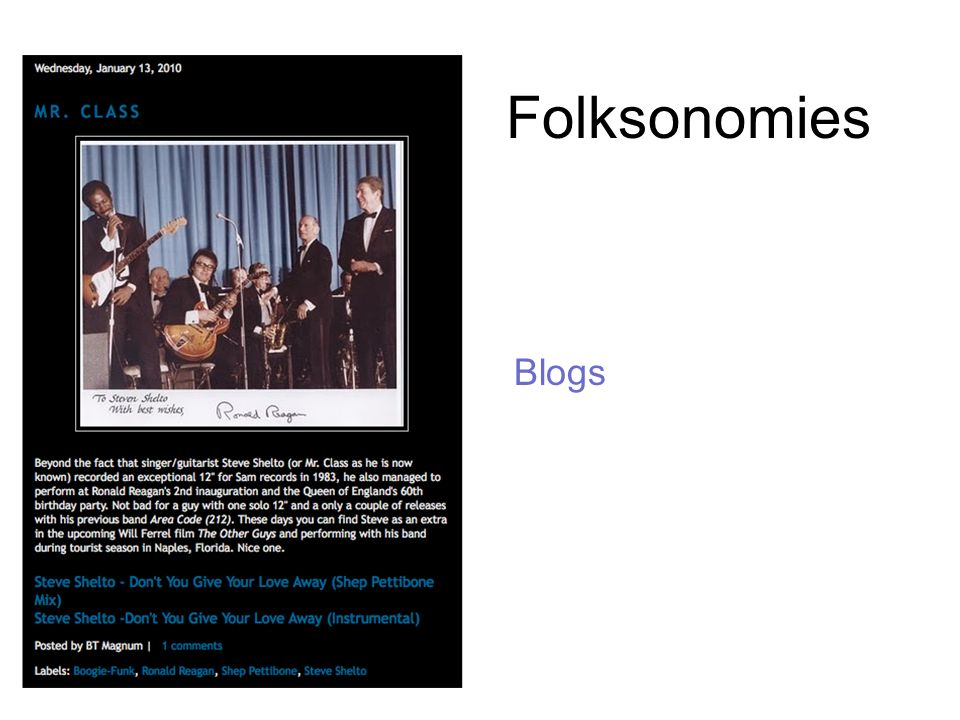 Folksonomies Blogs