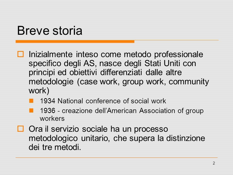 3 Fasi di sviluppo del servizio sociale di gruppo: I Fase - dal dopoguerra agli anni 60 - il gruppo come mezzo di risocializzazione e strumento del servizio sociale di comunità.