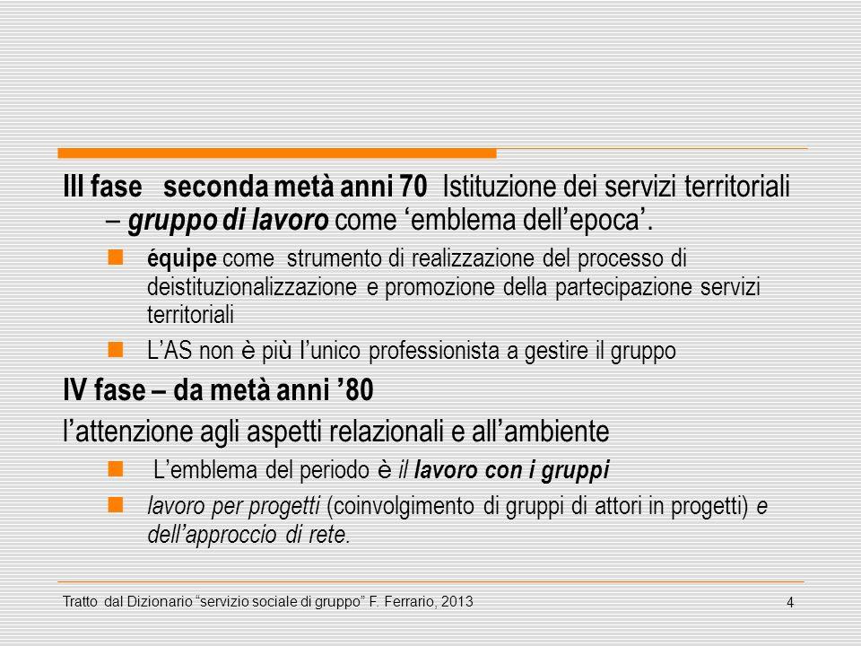 45 Riferimenti bibliografici sul gruppo Del Rio G., Luppi M., (2010) Gruppo e relazione di aiuto.