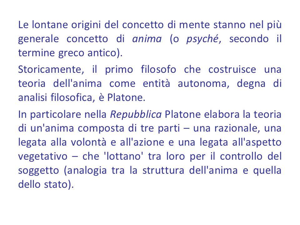 La teoria platonica sviluppata nella Repubblica rappresenta la prima teoria unitaria dell anima nella storia del pensiero occidentale.