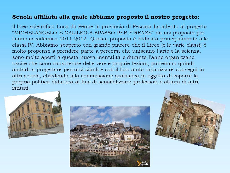 Scuola affiliata alla quale abbiamo proposto il nostro progetto: il liceo scientifico Luca da Penne in provincia di Pescara ha aderito al progetto MIC