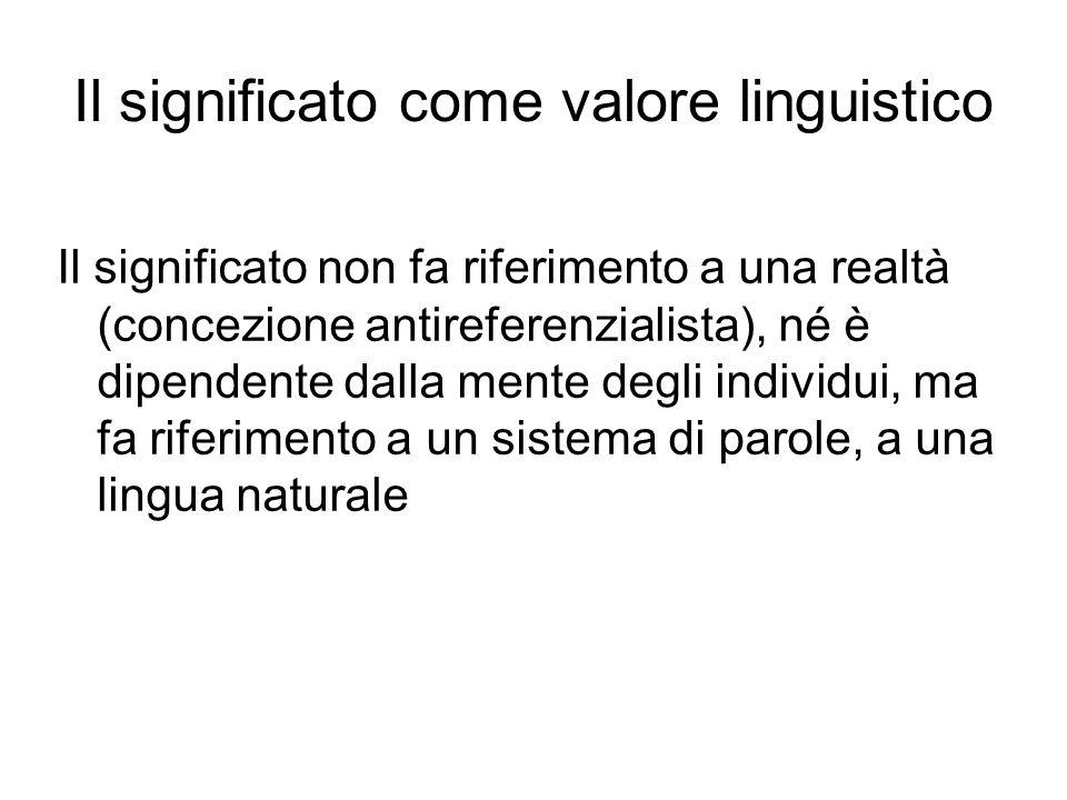 Il significato non fa riferimento a una realtà (concezione antireferenzialista), né è dipendente dalla mente degli individui, ma fa riferimento a un s